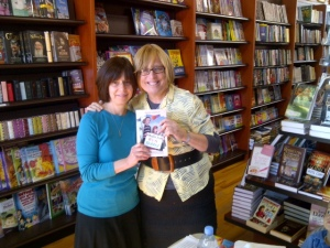 At the local book store - a book signing